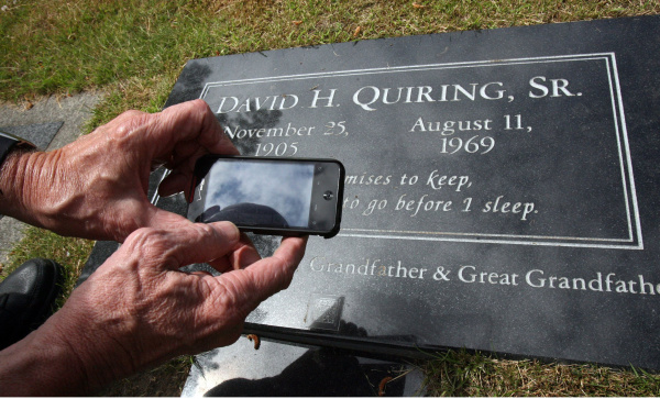 INTERACTIVE GRAVE MARKERS